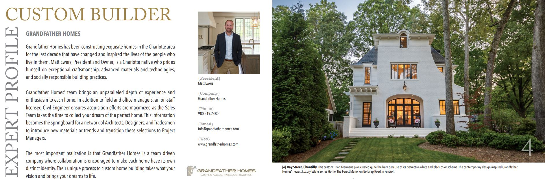 As Featured in Luxury Home Magazine: Expert Profile on Grandfather ...